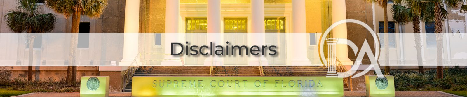 Arvanitakis Law Group Legal Disclaimers